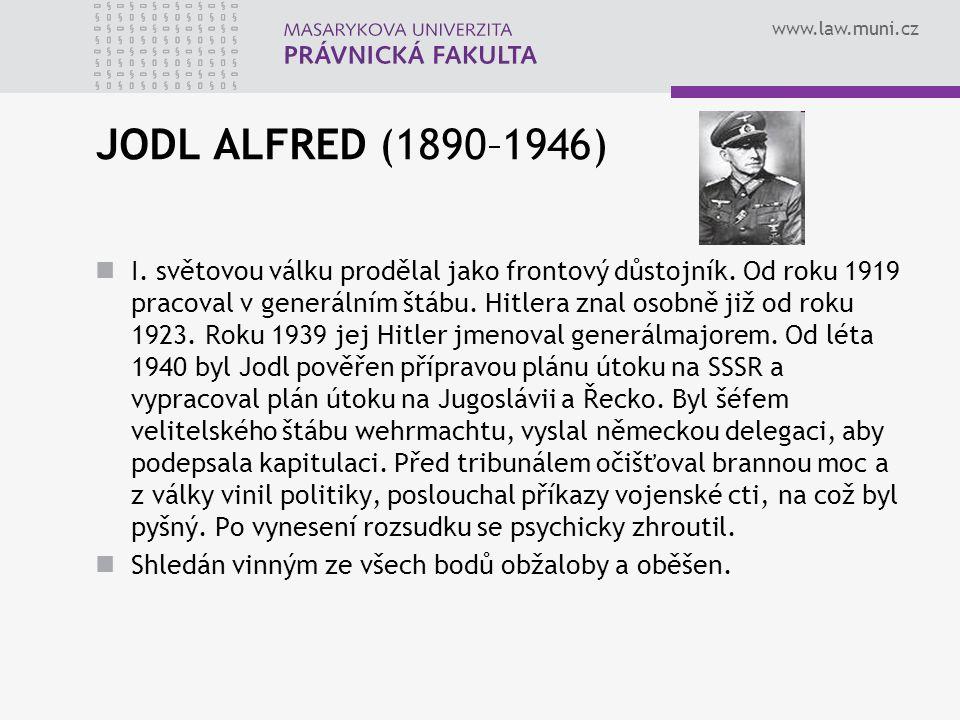 JODL ALFRED (1890–1946)