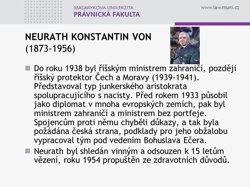 NEURATH KONSTANTIN VON (1873-1956)