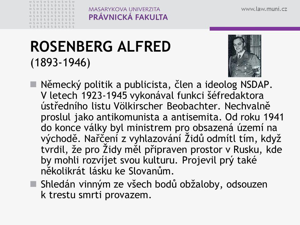 ROSENBERG ALFRED (1893-1946)