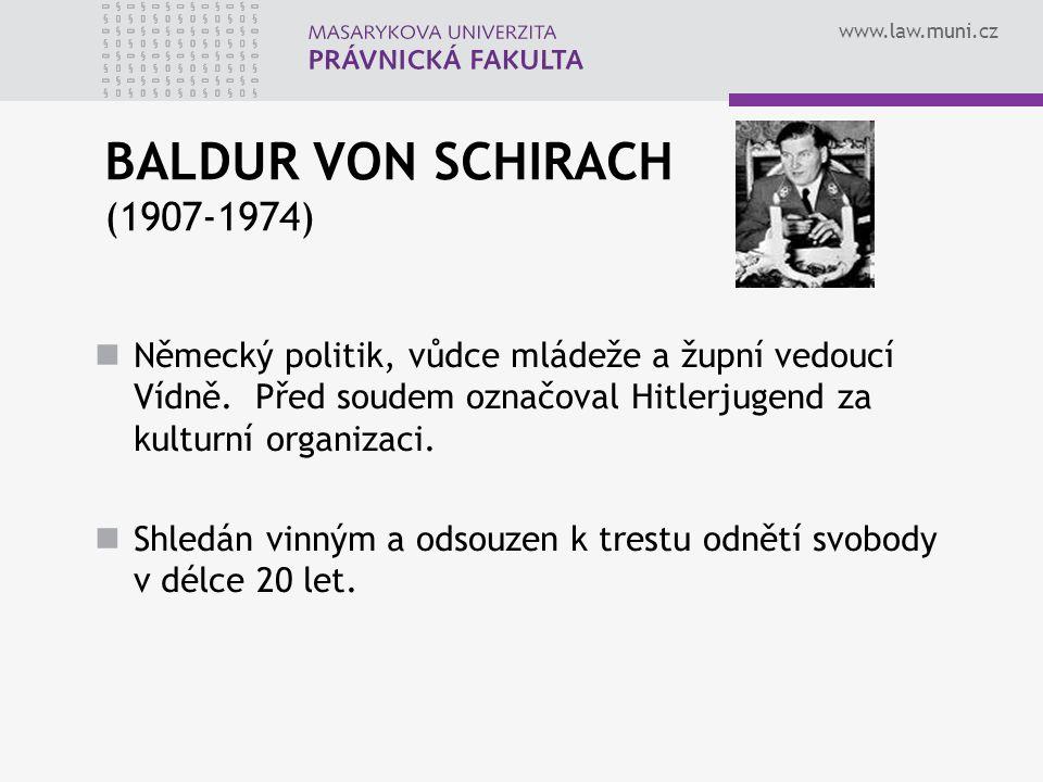BALDUR VON SCHIRACH (1907-1974)