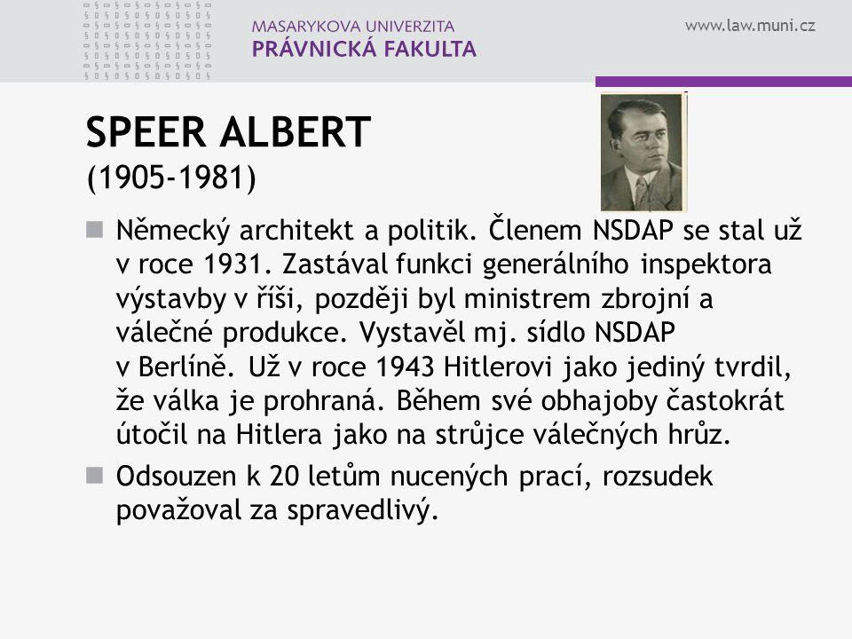 SPEER ALBERT (1905-1981)