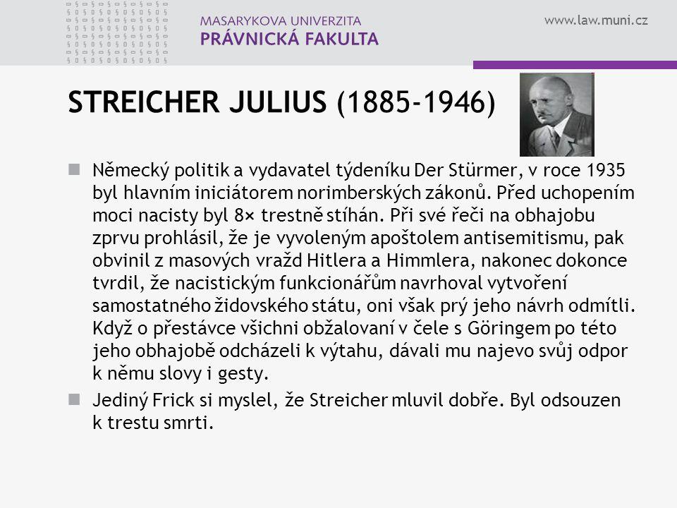 STREICHER JULIUS (1885-1946)