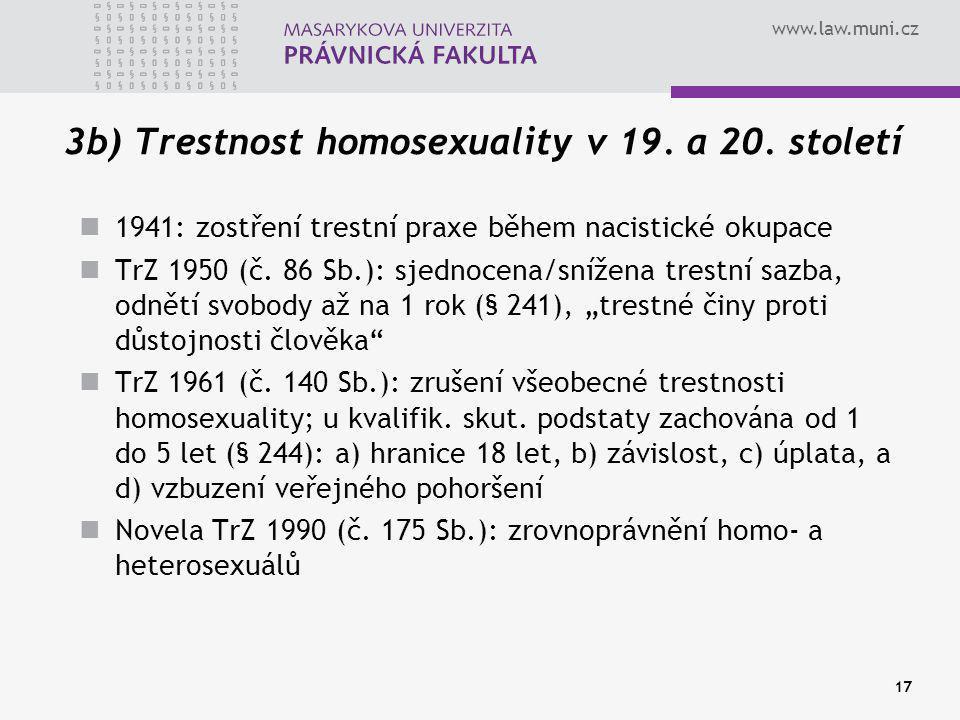 3b) Trestnost homosexuality v 19. a 20. století