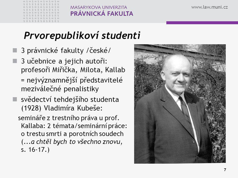 Prvorepublikoví studenti