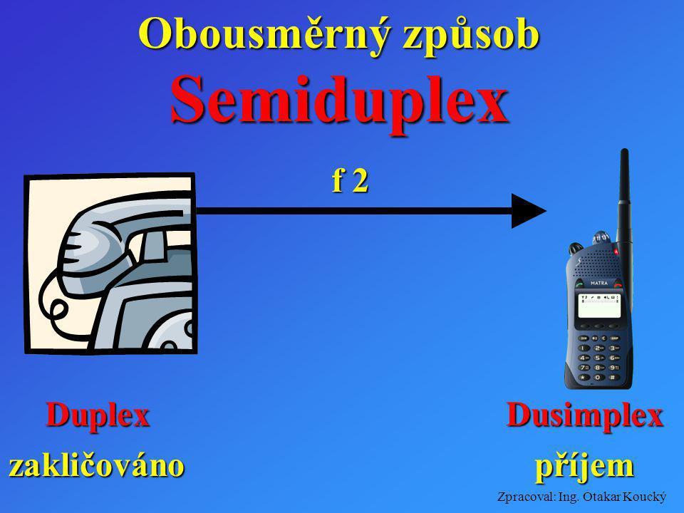 Obousměrný způsob Semiduplex f 2 Duplex zakličováno Dusimplex příjem