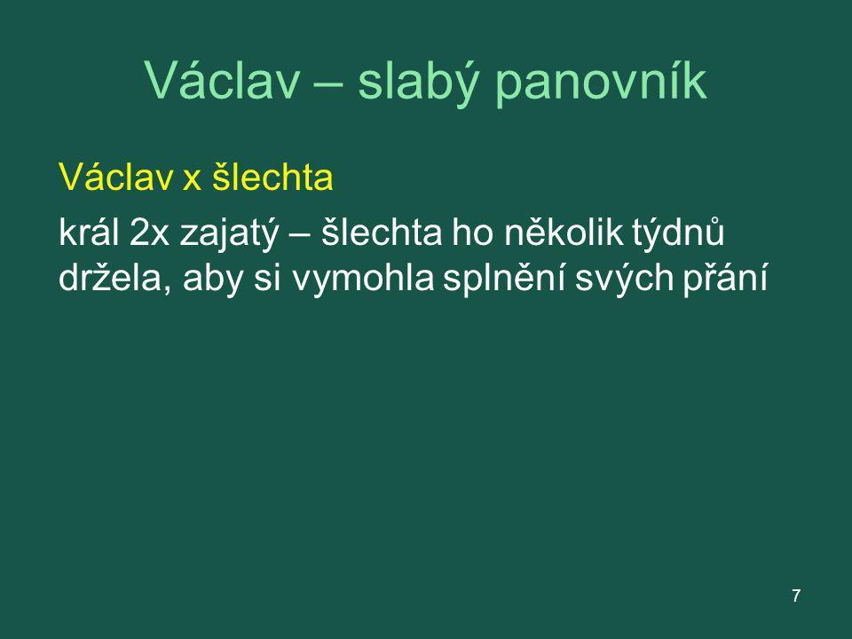 Václav – slabý panovník