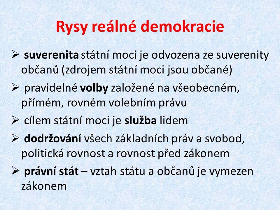 Rysy reálné demokracie