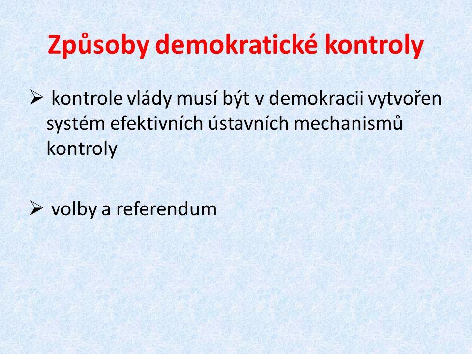 Způsoby demokratické kontroly