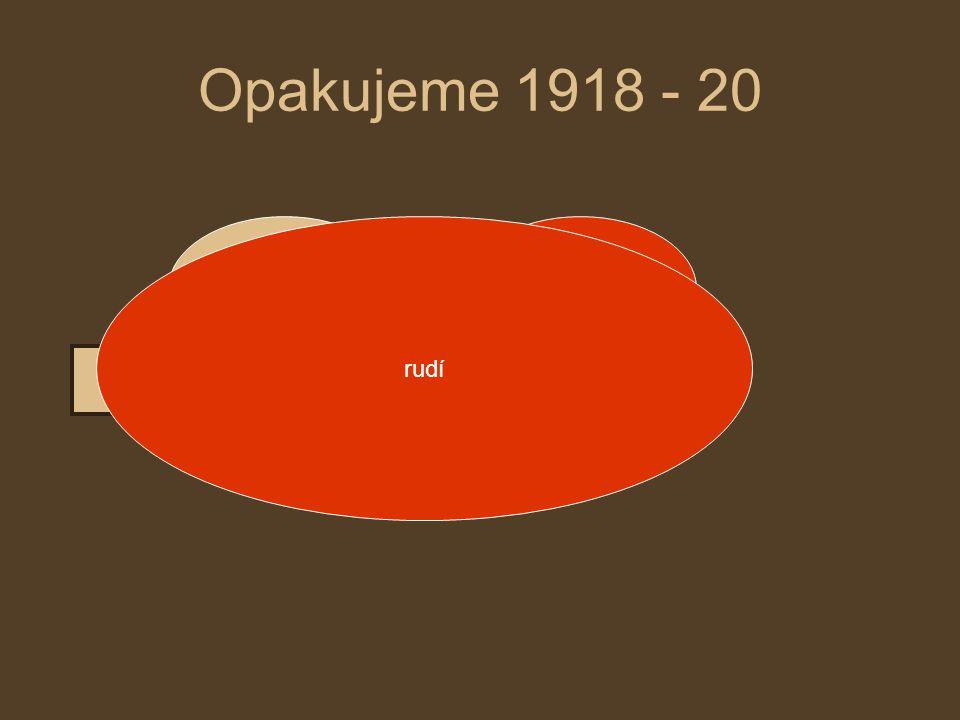 Opakujeme 1918 - 20 rudí bílí rudí pomáhají evropské státy
