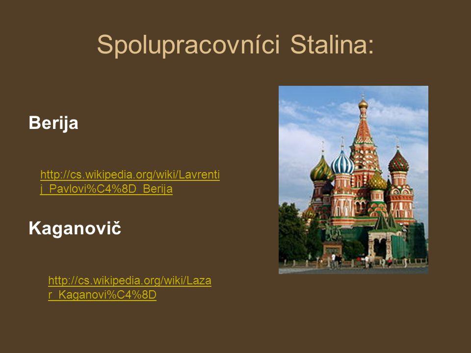 Spolupracovníci Stalina: