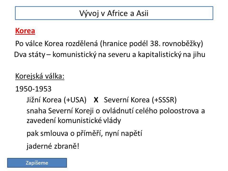 Vývoj v Africe a Asii Korea