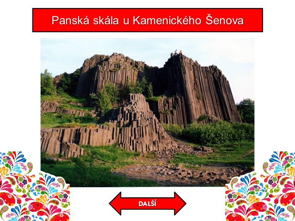 Panská skála u Kamenického Šenova