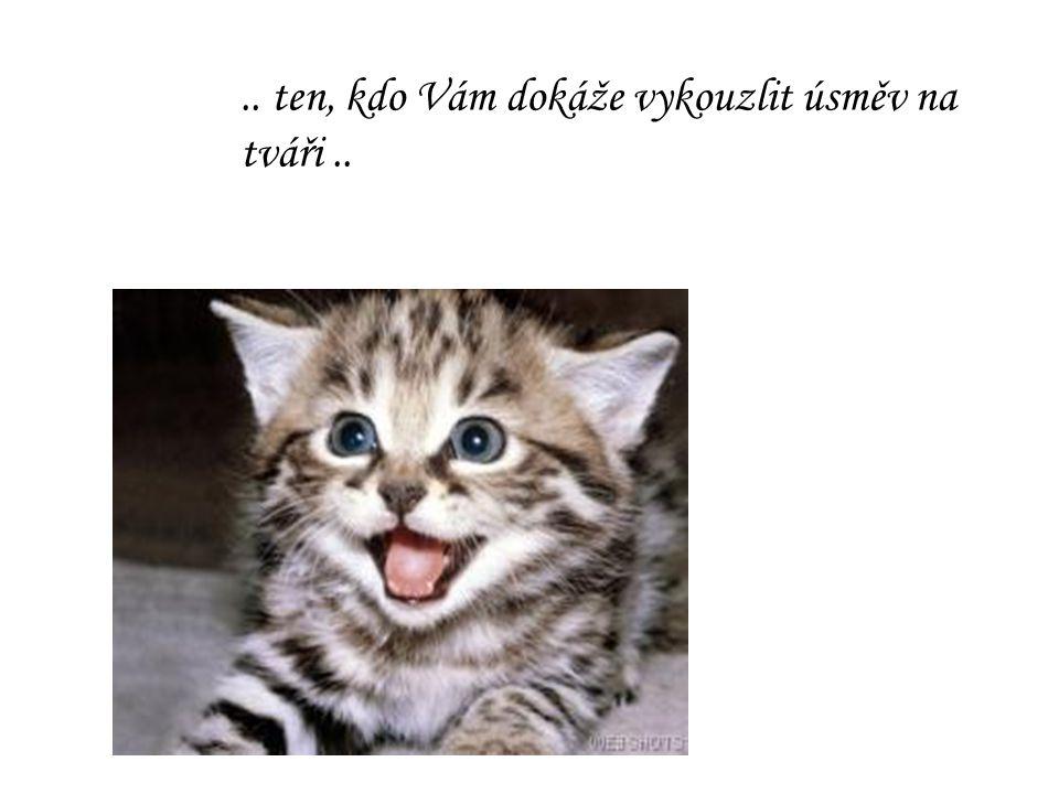 .. ten, kdo Vám dokáže vykouzlit úsměv na tváři ..