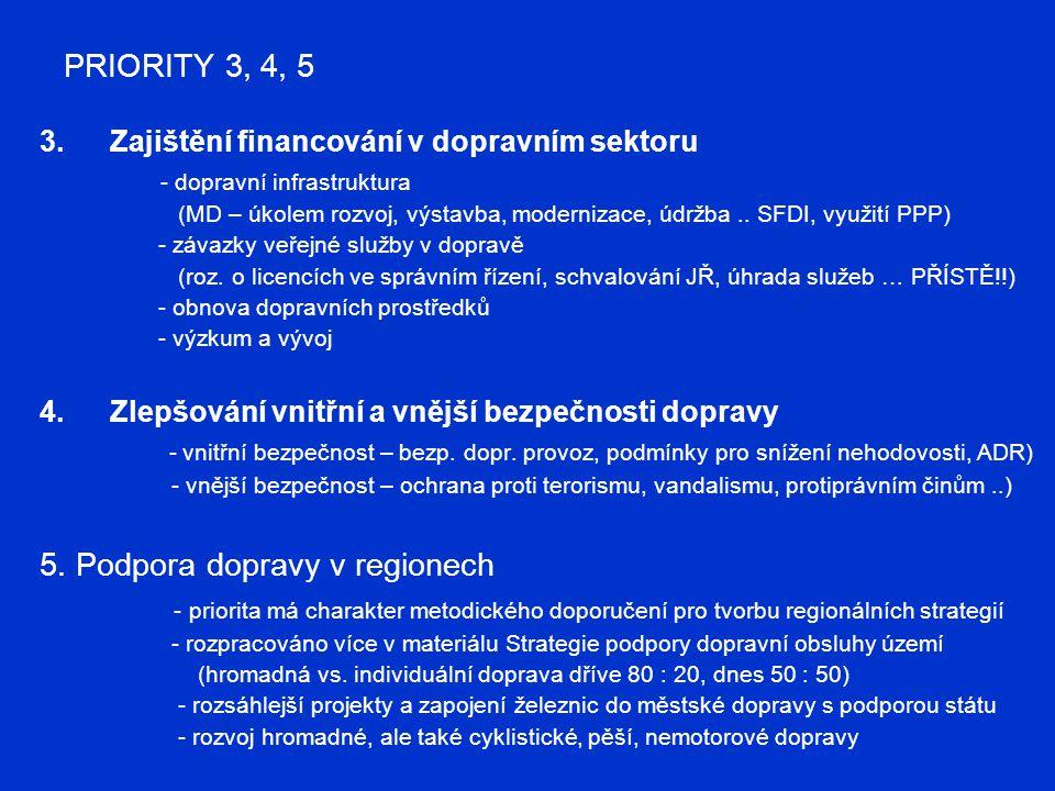 5. Podpora dopravy v regionech