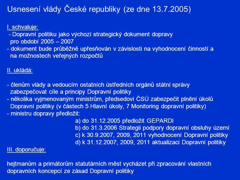 Usnesení vlády České republiky (ze dne 13. 7. 2005) I
