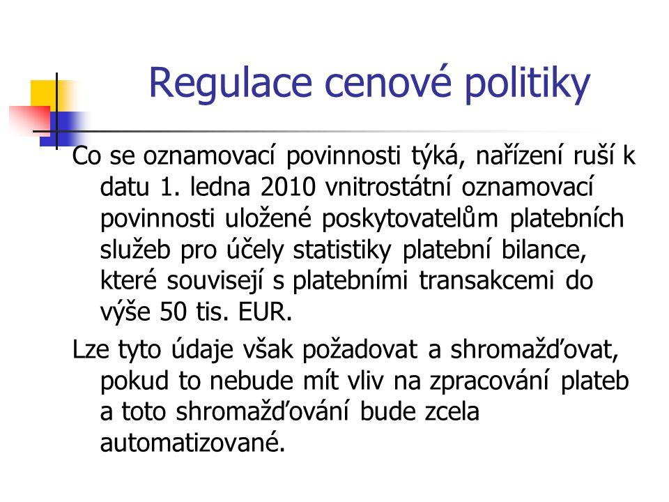 Regulace cenové politiky