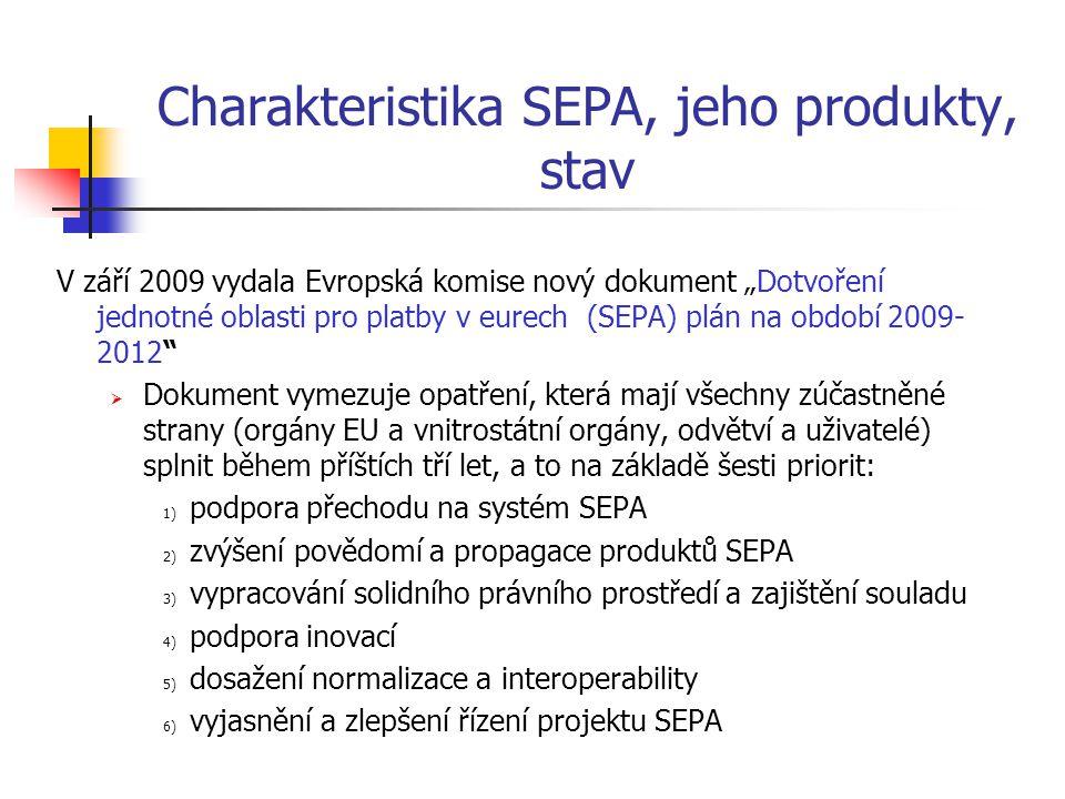 Charakteristika SEPA, jeho produkty, stav