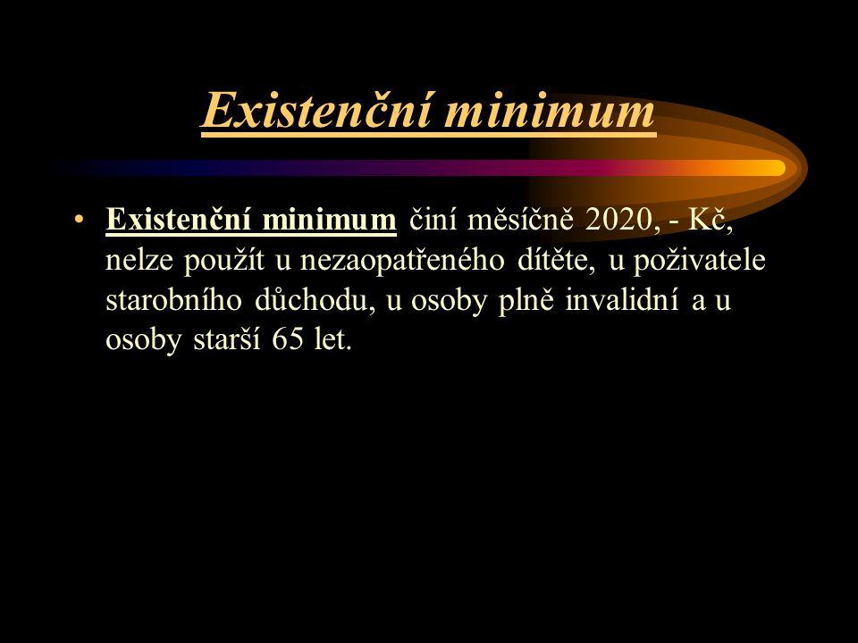 Existenční minimum