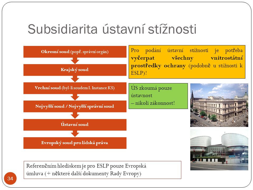 Subsidiarita ústavní stížnosti