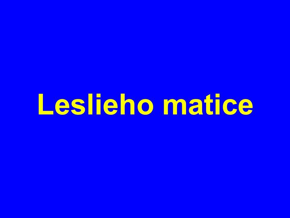 Leslieho matice