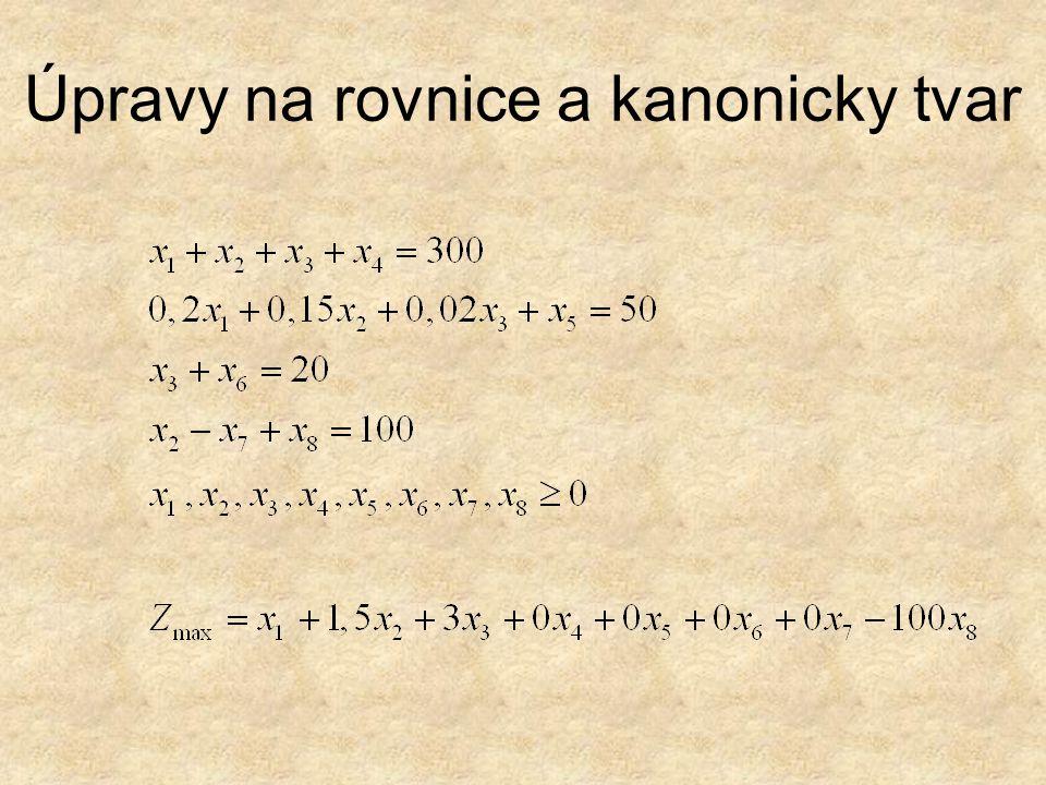 Úpravy na rovnice a kanonicky tvar