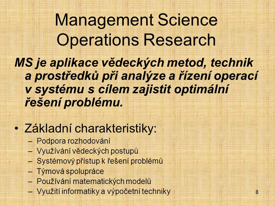 Management Science Operations Research