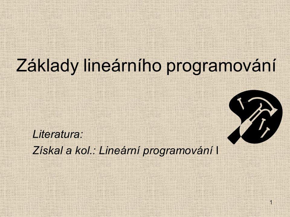 Základy lineárního programování