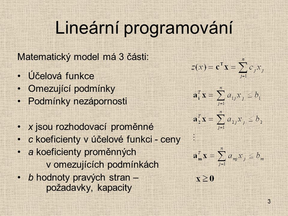 Lineární programování