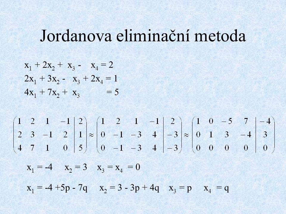 Jordanova eliminační metoda