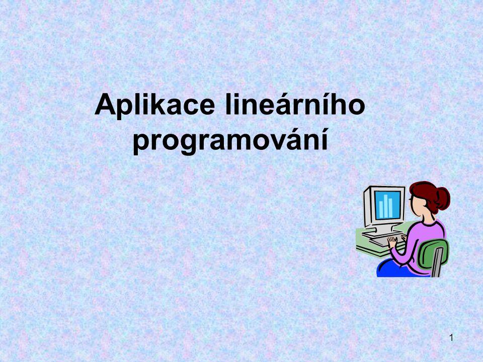 Aplikace lineárního programování