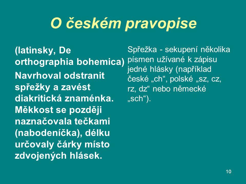 O českém pravopise (latinsky, De orthographia bohemica)