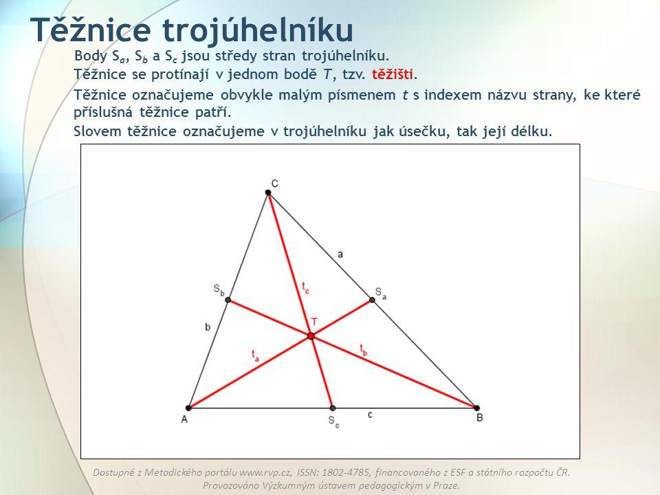 Těžnice trojúhelníku Body Sa, Sb a Sc jsou středy stran trojúhelníku.