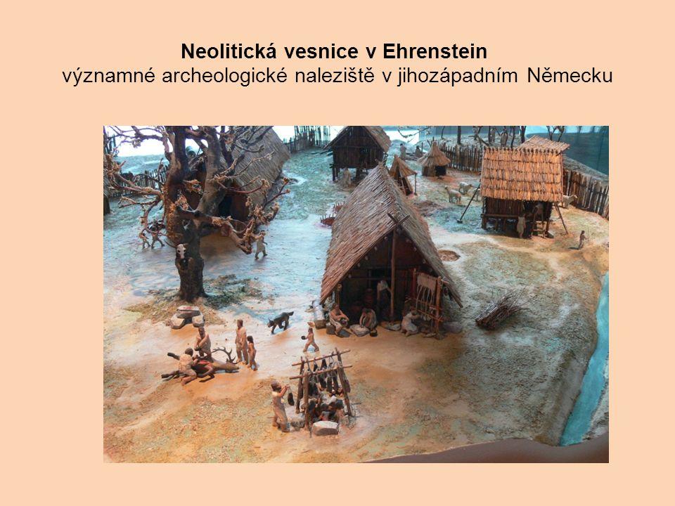 Neolitická vesnice v Ehrenstein významné archeologické naleziště v jihozápadním Německu