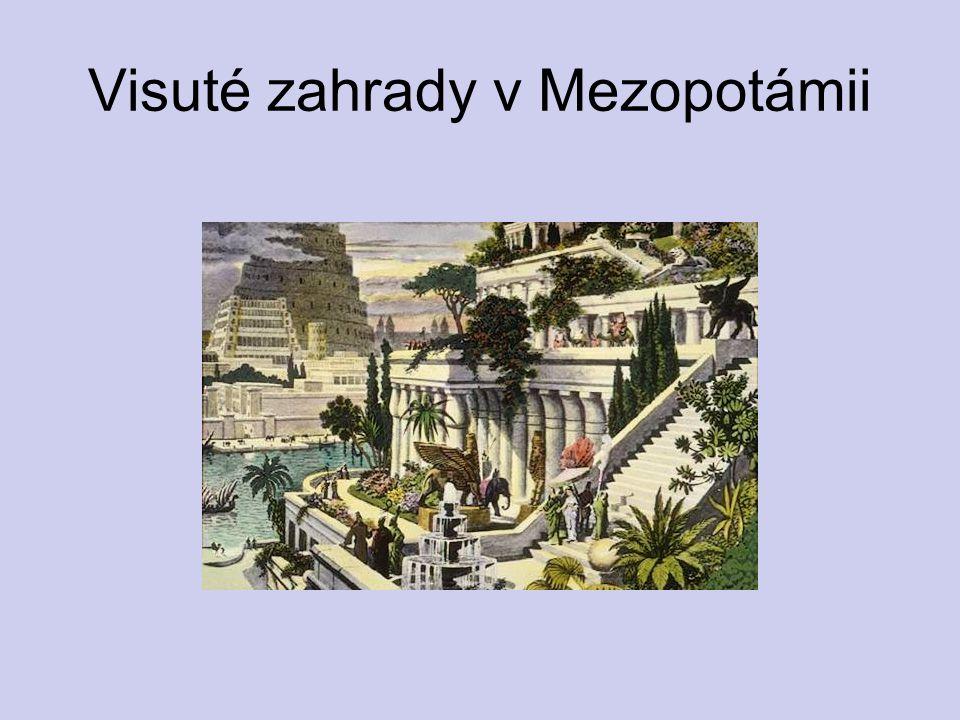 Visuté zahrady v Mezopotámii