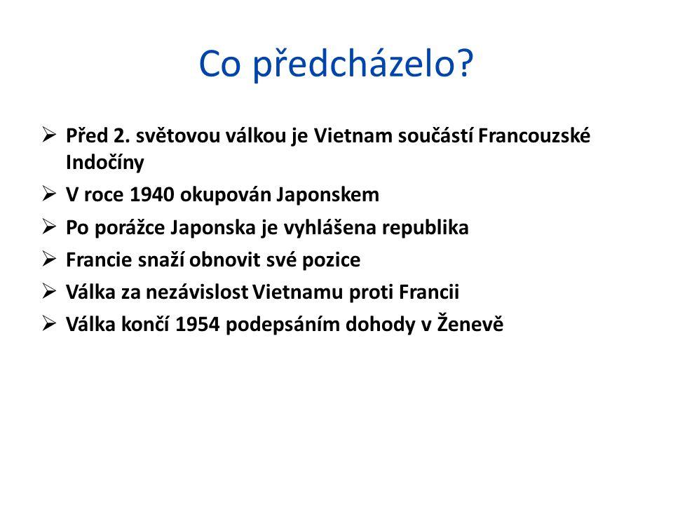 Co předcházelo Před 2. světovou válkou je Vietnam součástí Francouzské Indočíny. V roce 1940 okupován Japonskem.