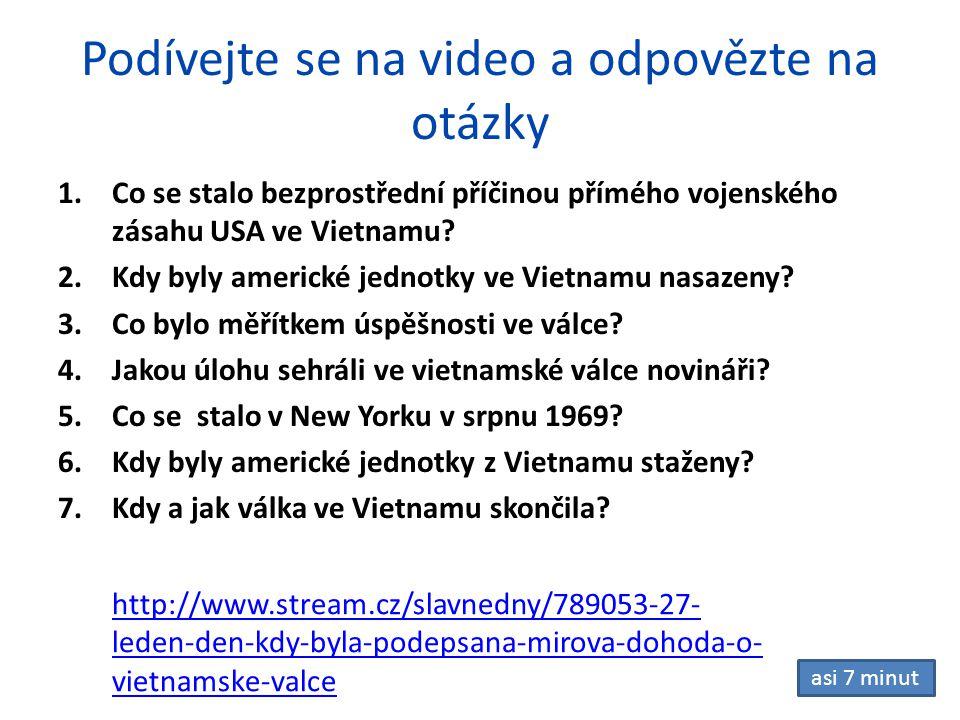 Podívejte se na video a odpovězte na otázky