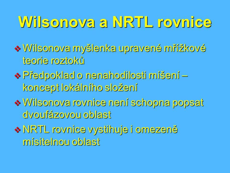 Wilsonova a NRTL rovnice