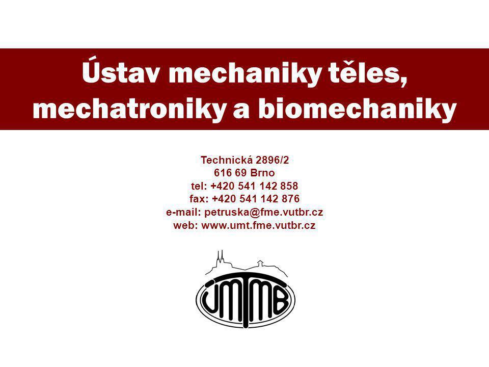 e-mail: petruska@fme.vutbr.cz