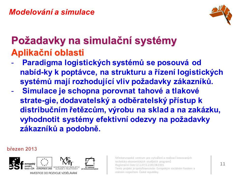 Požadavky na simulační systémy