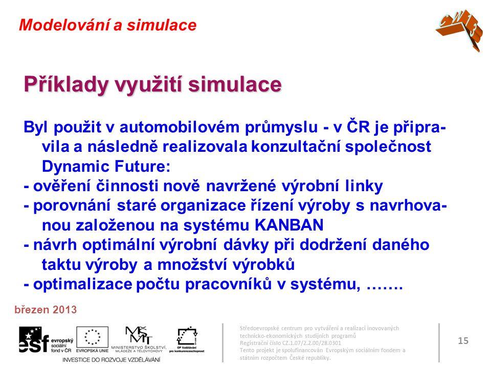 Příklady využití simulace