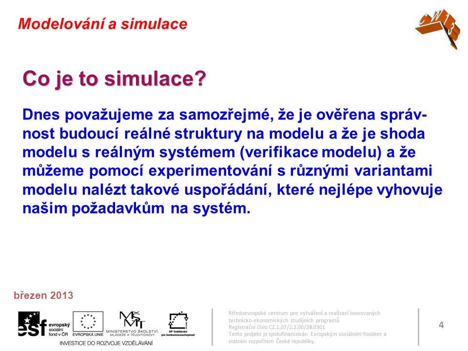 Co je to simulace CW13 Modelování a simulace