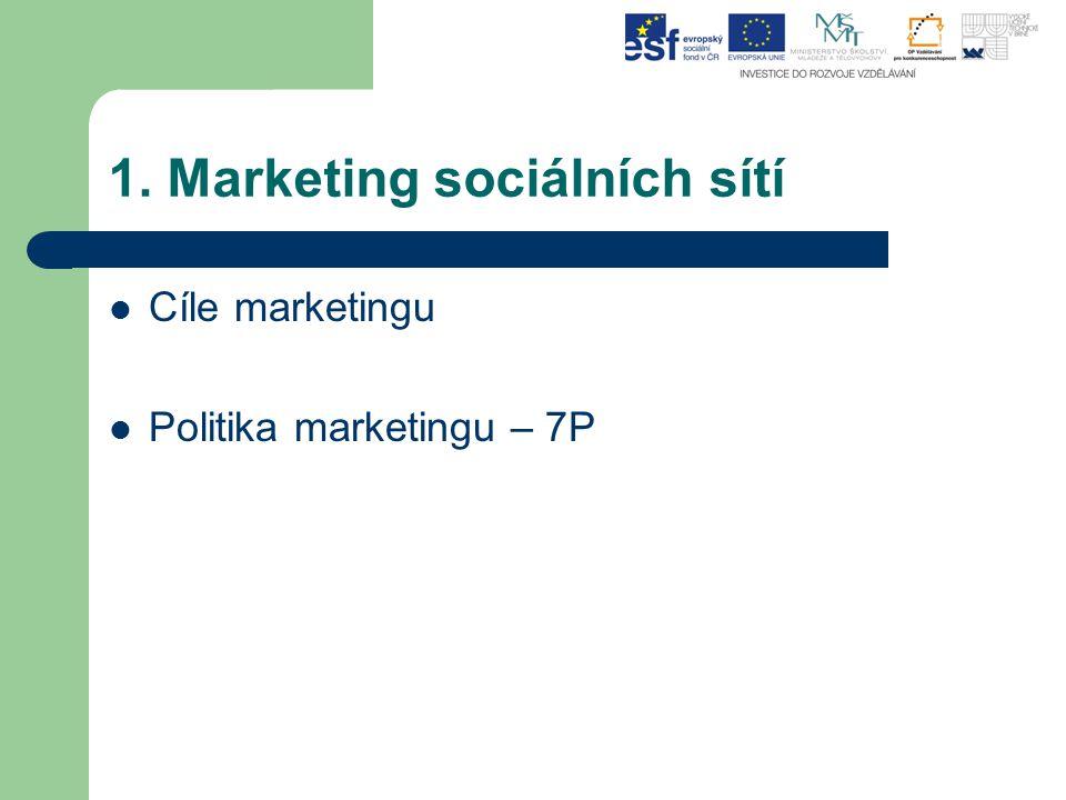 1. Marketing sociálních sítí