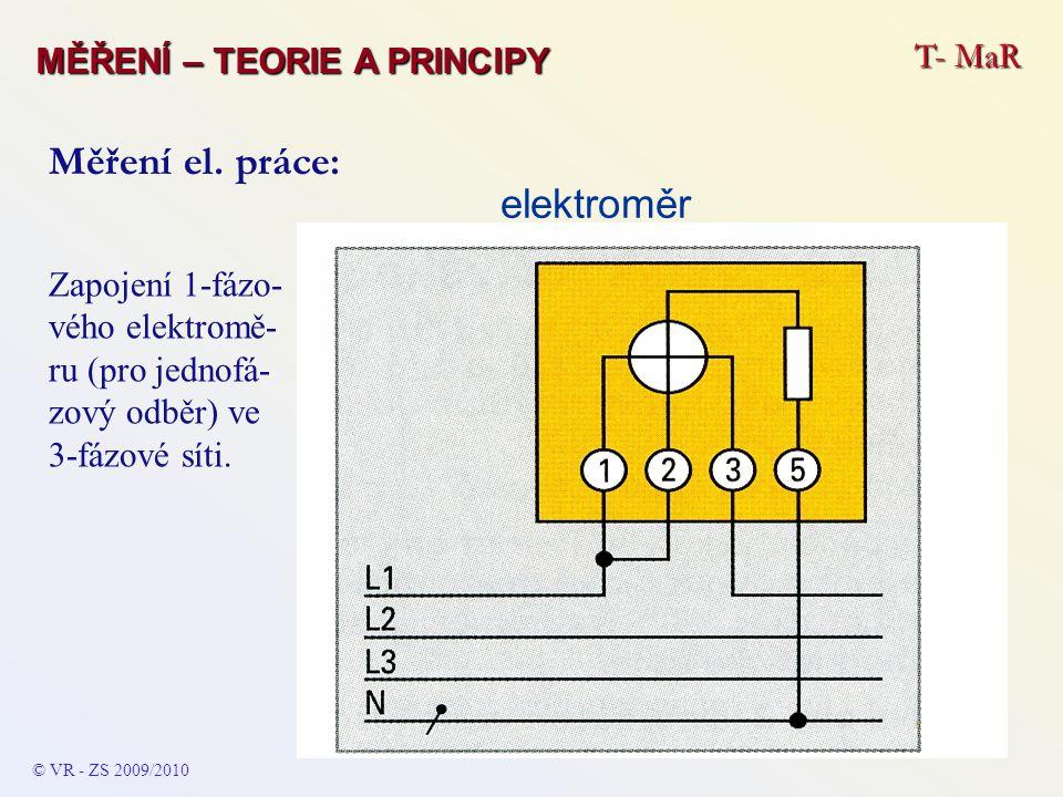 Měření el. práce: elektroměr T- MaR MĚŘENÍ – TEORIE A PRINCIPY