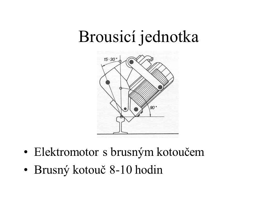 Brousicí jednotka Elektromotor s brusným kotoučem