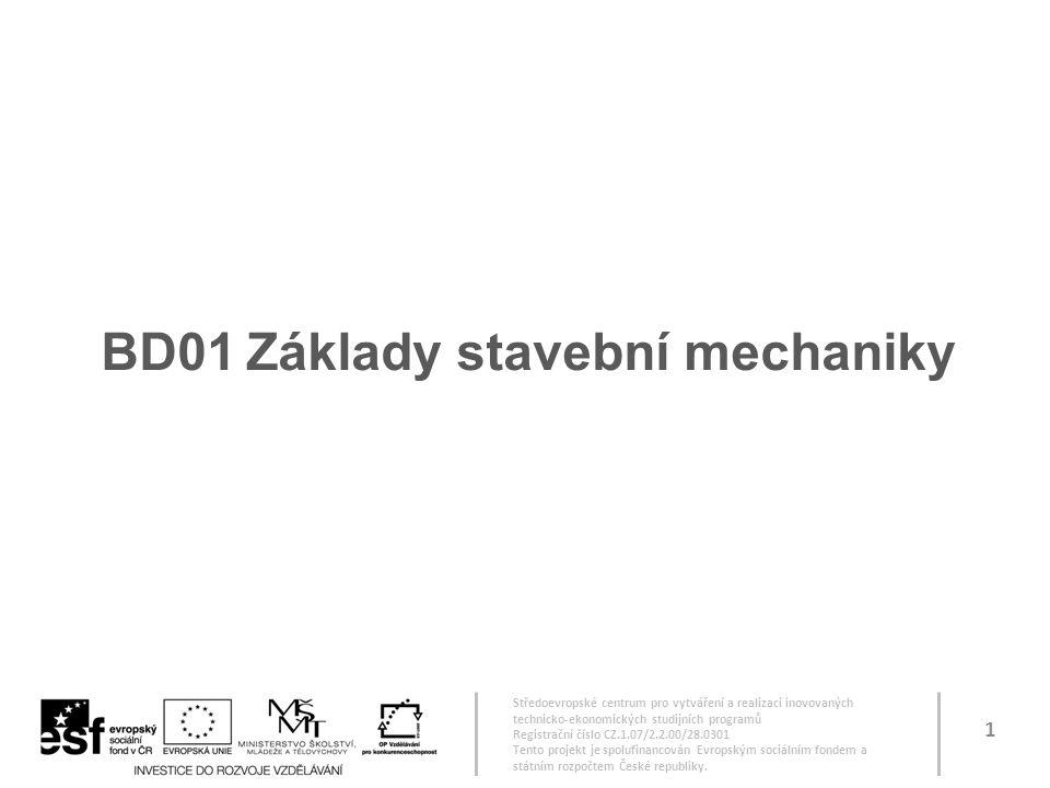 BD01 Základy stavební mechaniky