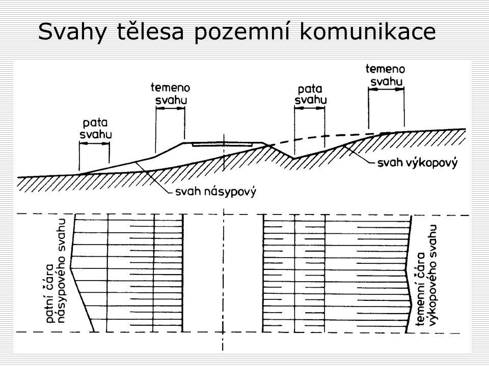 Svahy tělesa pozemní komunikace