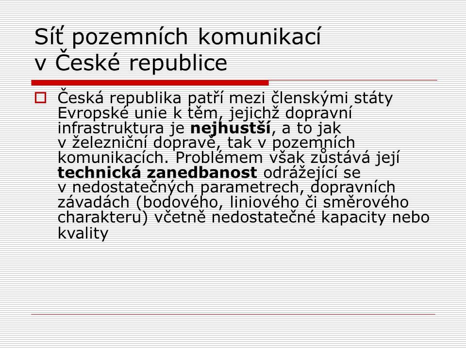 Síť pozemních komunikací v České republice