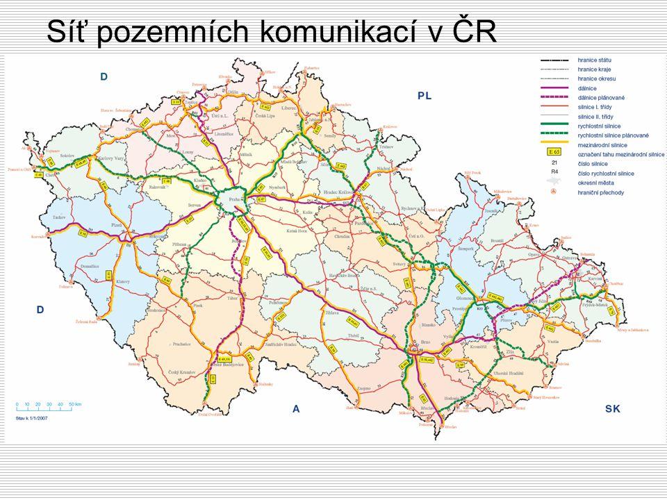 Síť pozemních komunikací v ČR
