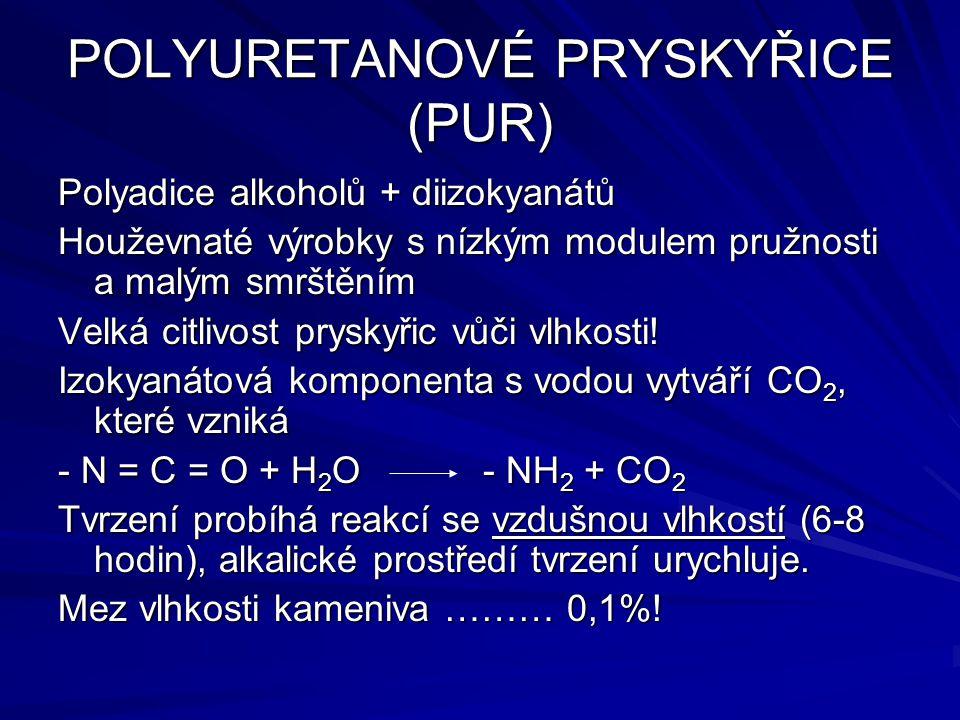 POLYURETANOVÉ PRYSKYŘICE (PUR)