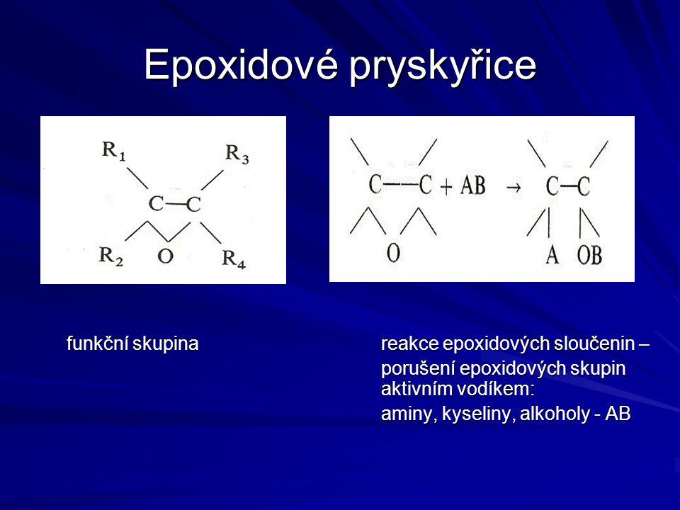 Epoxidové pryskyřice funkční skupina reakce epoxidových sloučenin –
